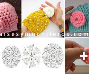 Como hacer gorras a crochet punto 3D + patrones gratis