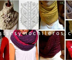 Aprende a hacer divinas bufandas a crochet facilmente + Patrones