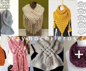 CURSO GRATUITO de Bufandas a crochet diversos modelos + patrones