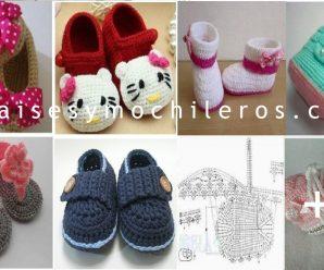 Aprende a hacer zapatitos Merceditas a Crochet + patrones