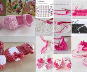 Como hacer Sandalias de bebe a crochet + Patrones