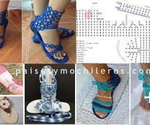 Como hacer Sandalias de mujer a crochet + Patrones