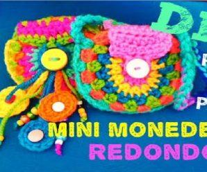 Como Hacer Mini Monedero a Crochet FACIL Paso a Paso