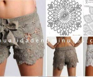 Tutorial Online de como Hacer un Short a Crochet Paso a Paso + Patron