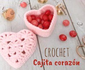 Como hacer una Cajita de Corazon a Crochet por el ¡DIA DE LA MADRE!