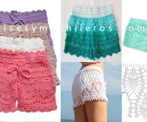 Como hacer Shores a Crochet en todas las Tallas Paso a Paso