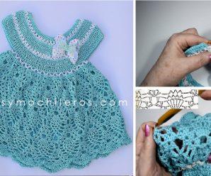 Como Hacer un Vestido de Bebe DIVINO a Crochet paso a paso