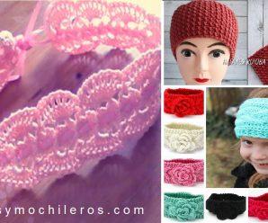 CURSO GRATIS de DIADEMAS a crochet PASO A PASO + PATRONES