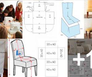 Como hacer fundas para tus sillas METODO RAPIDO paso a paso