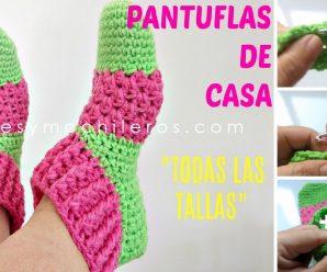 Como Hacer PANTUFLAS Bellisimas a Crochet Paso a paso