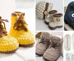 Como hacer Botitas a Crochet paso a paso +PATRONES GRATIS