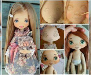 Aprende cómo coser y pintar la carita de tus muñecas de trapo
