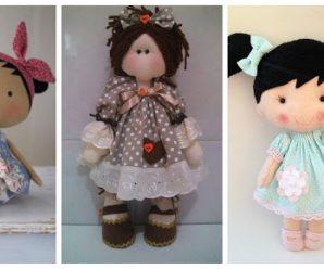 Aprende cómo hacer vestidos para muñecas de trapo y fieltro