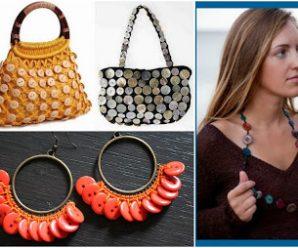 15 Ideas espectaculares para hacer adornos y accesorios con botones