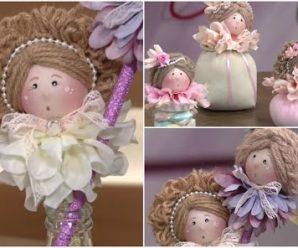 Aprende cómo hacer muñequitas para decorar lapices dulceros y más