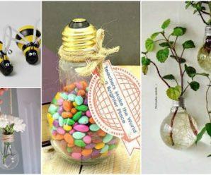 9 Increíbles adornos decorativos con focos o bombillas recicladas