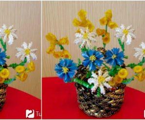 Aprende cómo hacer adornos florales con pasta de fideos