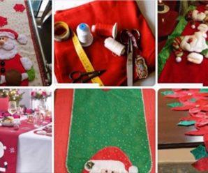 Aprende hacer un hermoso mantel navideño para mesa paso a paso