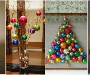 8 Hermosos adornos navideños que puedes hacer usando esferas