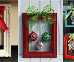 8 Adornos navideños con marcos para decorar en esta navidad