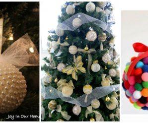 Aprende a hacer Esferas navideñas para decorar árboles Paso a Paso