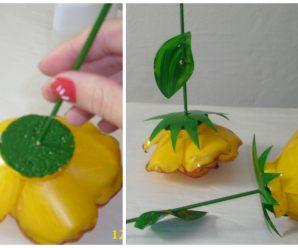 3 Tutoriales para hacer ramo de flores y aretes con botellas de plástico