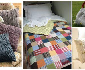 Haz mantas – cojines – pantuflas y bolsas reciclando suéteres