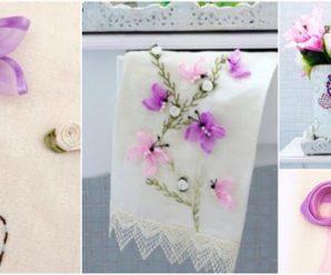 Aprende cómo hacer mariposas de listón para servilletas o toallas