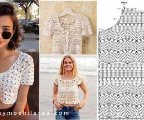 Como tejer un hermoso bolero a Crochet Modelos + Patrones Gratis