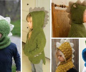 Gorro Dinosaurio Tejido a Crochet PASO A PASO