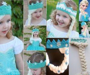 Corona de princesa Elsa hecha a crochet