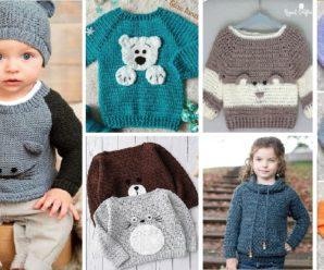Te enseñamos a tejer un precioso SUETER de niño a Crochet