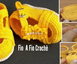 Te enseñamos a tejer preciosos zapatitos  a crochet Facil