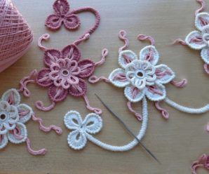 APRENDE A tejer FLORES para blusas tapetes o decoracon A CROCHET