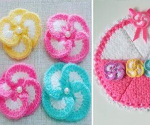 Aprende a tejer estas BELLISIMAS FLORES A CROCHET Para decoracion