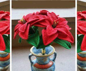 Bellisimas flores para decoracion A CROCHET PASO A PASO