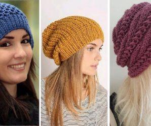 Como tejer Lindas Boinas caidas a Crochet