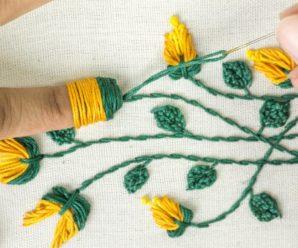 Increíble Bordado a mano: aprende ideas de flores con trucos