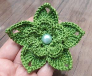 Preciosa Flor a Crochet Paso a paso