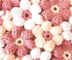Como tejer Bellas Flores a Crochet