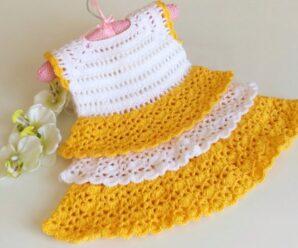 Vestido de Bebe Princesa a Crochet Superfacil