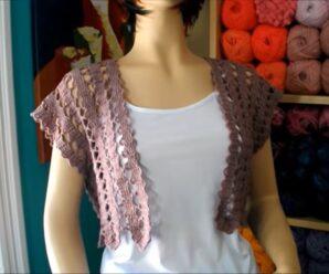 Aprende a tejer Hermoso BOLERO A Crochet