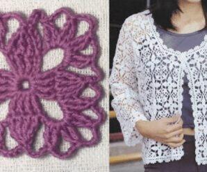 Aprende a Tejer Grany Square para Blusa a Crochet