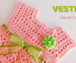 Aprende a tejer Bello vestido para Bebe a Crochet