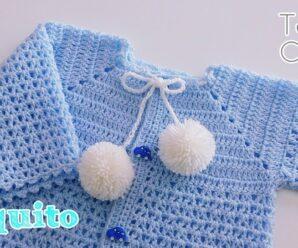 Tutorial para tejer cambrita o chompita de bebe