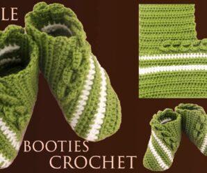 Zapatitos a Crochet para bebes niñas niños y adultas