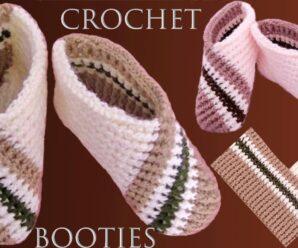 Zapatos a crochet tejidos con diseños en Punto elástico