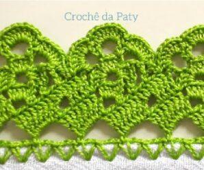 Aprende a Tejer Hermosa Puntilla a Crochet