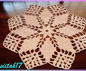 Tapete tejido a crochet super fácil (baretas dobles10 hileras)