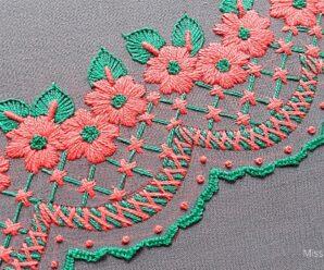 Encantador diseño de bordado a mano PASO A PASO